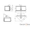 Дизайнерский камин G&S 70x52T