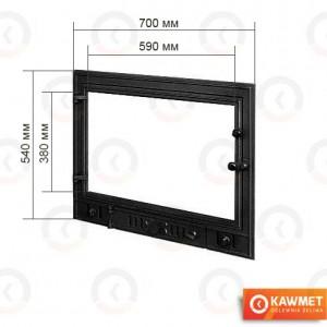 Дверцы для камина KAWMET W3 540x700