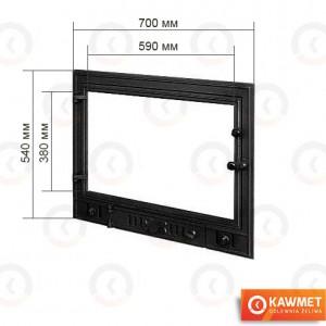 Дверцы для камина KAWMET W4 540x700