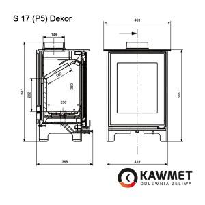 Чугунная печь KAWMET Premium S17 (P5) Dekor (4,9 kW)