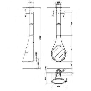 Дизайнерский камин Rocal Drop