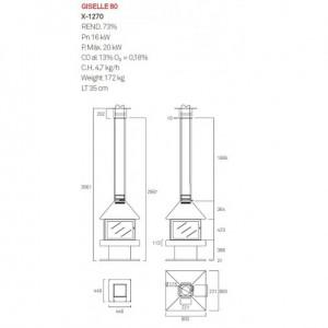 Дизайнерський камін Rocal Giselle 90