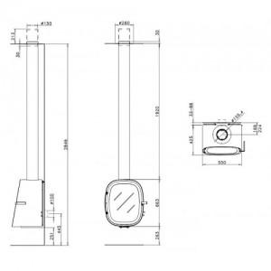 Дизайнерський камін Rocal Oval