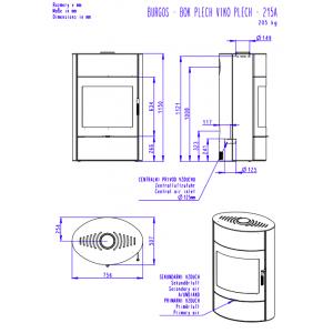 Romotop BURGOS 03 листовий метал - камінна піч