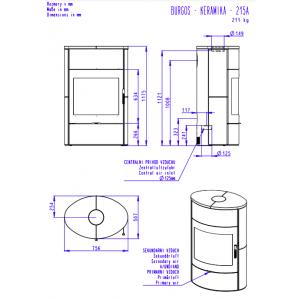 Romotop BURGOS 01 керамика - каминная печь