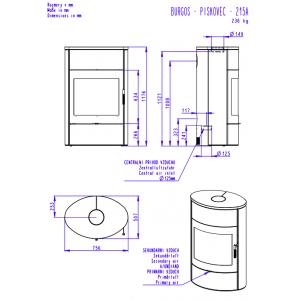 Romotop BURGOS 04 піщаник - камінна піч