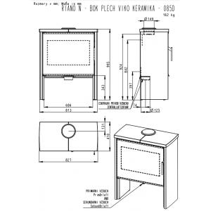 Romotop RIANO N 04 - камінна піч