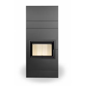 VARIANT FN - дизайнерский камин с прямым стеклом (база)