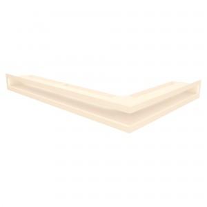 Вентиляційна решітка для каміна кутова ліва SAVEN Loft Angle 6х40х60 кремова
