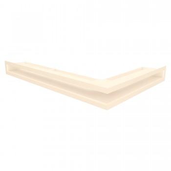 Вентиляционная решетка для камина угловая левая SAVEN Loft Angle 6х40х60 кремовая
