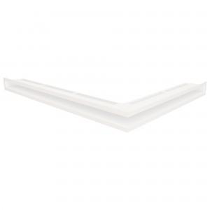 Вентиляційна решітка для каміна кутова ліва SAVEN Loft Angle 6х60х80 біла