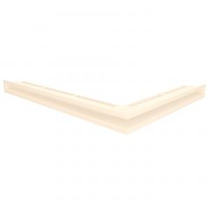 Вентиляційна решітка для каміна кутова ліва SAVEN Loft Angle 6х60х80 кремова