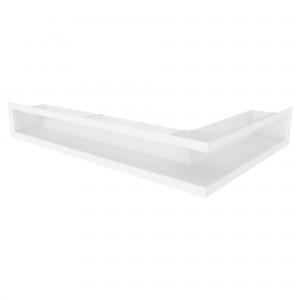 Вентиляційна решітка для каміна кутова ліва SAVEN Loft Angle 9х40х60 біла