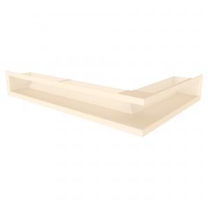 Вентиляційна решітка для каміна кутова ліва SAVEN Loft Angle 9х40х60 кремова