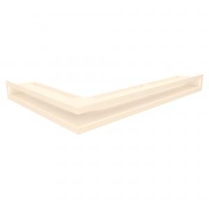 Вентиляційна решітка для каміна кутова ліва SAVEN Loft Angle 6х60х40 кремова
