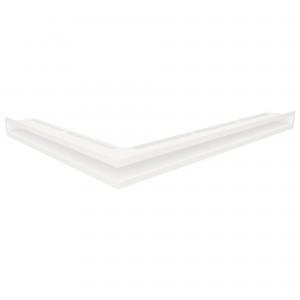 Вентиляційна решітка для каміна кутова ліва SAVEN Loft Angle 6х80х60 біла