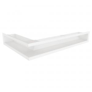 Вентиляційна решітка для каміна кутова ліва SAVEN Loft Angle 9х60х40 біла
