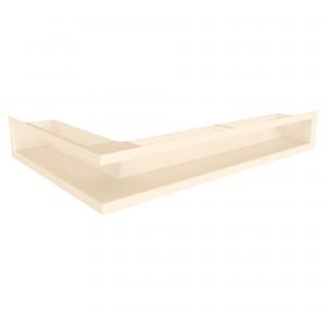 Вентиляционная решетка для камина угловая левая SAVEN Loft Angle 9х60х40 кремовая