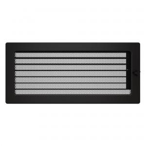 Вентиляционная решетка для камина SAVEN 17х37 c жалюзи черная