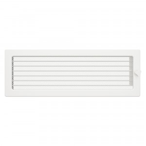 Вентиляционная решетка для камина SAVEN 17х49 c жалюзи белая