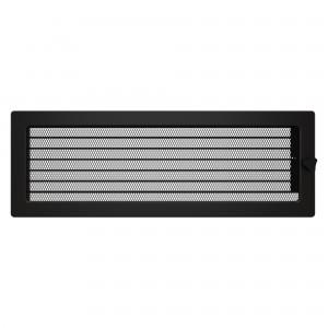 Вентиляционная решетка для камина SAVEN 17х49 c жалюзи черная