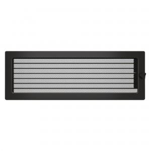 Вентиляционная решетка для камина SAVEN 17х49 c жалюзи графитовая