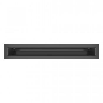 Вентиляционная решетка для камина SAVEN Loft 6х40 графитовая
