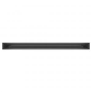 Вентиляционная решетка для камина SAVEN Loft 6х80 графитовая