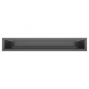 Вентиляционная решетка для камина SAVEN Loft 9х60 графитовая
