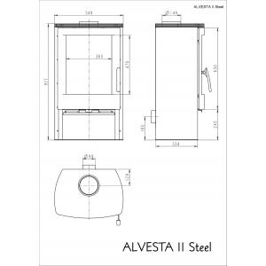 Опалювальна піч Thorma ALVESTA II steel