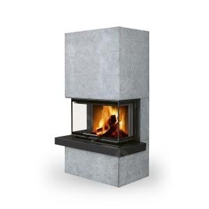 Romotop CARA C 02 - дизайнерский аккумуляционный камин в камне с подъёмной дверцей