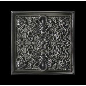 """Кахлі серії """"Квітка"""", колір чорний"""