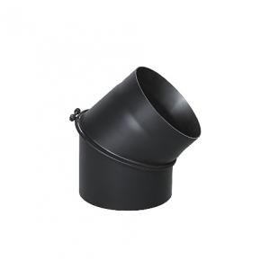 Коліно димохідне сталеве регульоване 45 градусів d120
